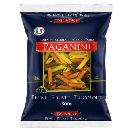 Macarrão Italiano Penne Rigate Tricolore PAGANINI 500g
