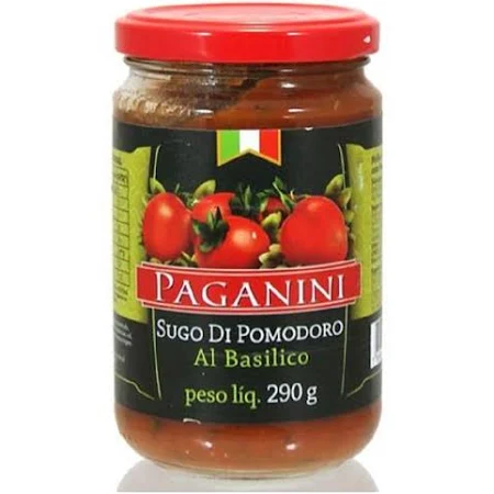 Molho de  Tomate PAGANINI Basílico 290g