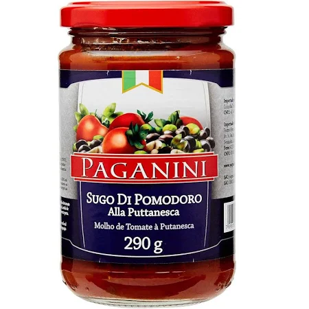 Molho de  Tomate PAGANINI Putanesca 290g