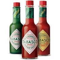 Molhos de Pimenta TABASCO kit 3 sabores de 60ml cada