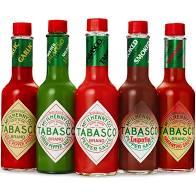 Molhos de Pimenta TABASCO kit 5 sabores de 60ml cada