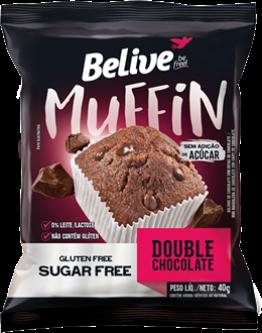 Muffin Double Choc Zero 10x40g Belive