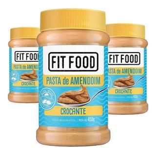 Pasta de Amendoim Cremoso FIT FOOD 450g (3 und)