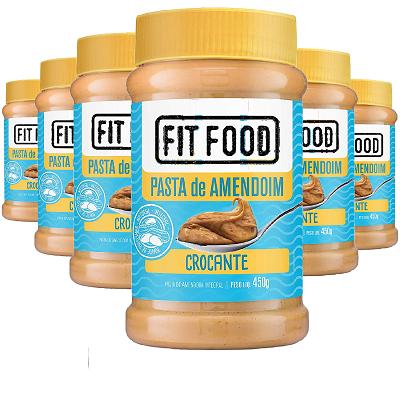 Pasta de Amendoim Cremoso FIT FOOD 450g (6 und)