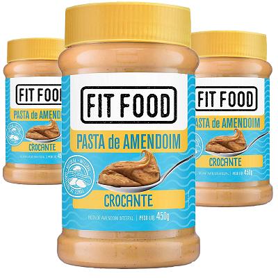 Pasta de Amendoim Crocante FIT FOOD 450g (3 und)