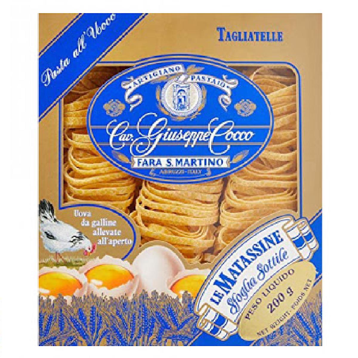 Pasta di Semola Tagliatelle all'uovo GIUSEPPE COCCO 200g