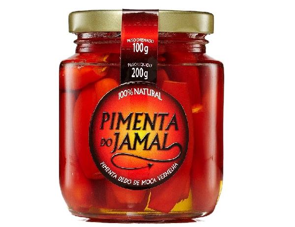 Pimenta Dedo de Moça Vermelha em Conserva JAMAL 200g