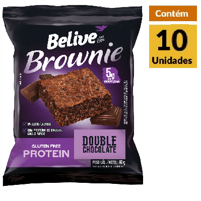 Protein Brownie Double Chocolate s/gluten BELIVE 10x40g