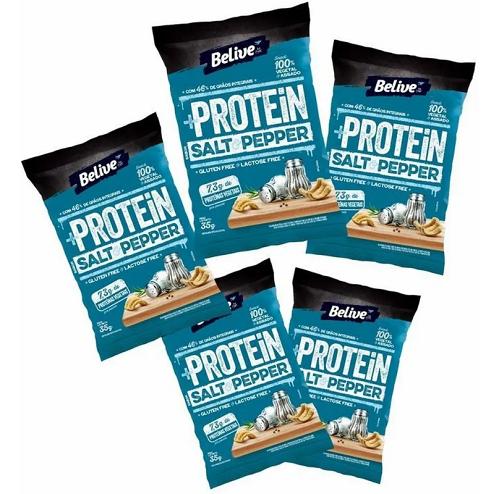 Protein Snack BeLive Salt & Pepper 35g (5 unidades)