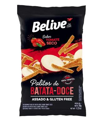 Snacks Batata Doce Tom Seco 35g Belive
