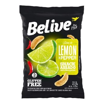 Snacks BeLive Sabor Lemon Pepper 35g
