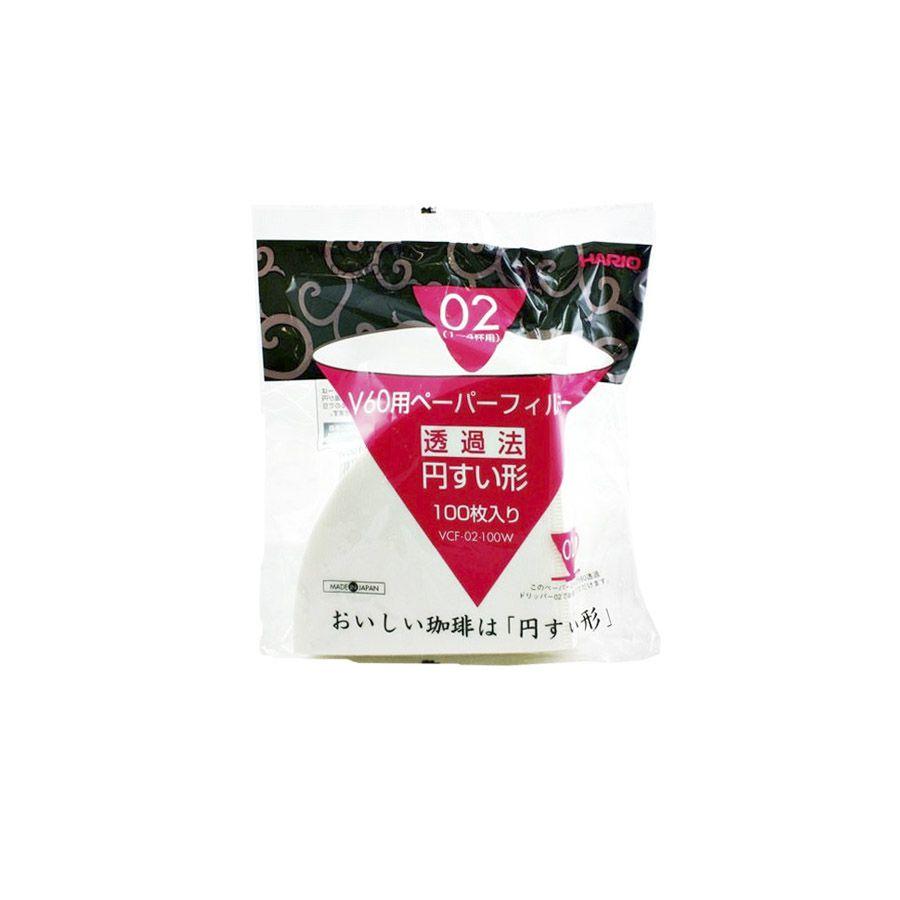 Filtro Branco para Hario V60 02 – 100 un