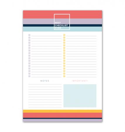 Bloco Organizador Checklist Allegro A4