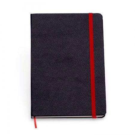 Caderneta Classica Preta com Vermelho