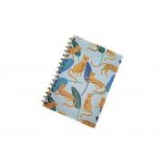 Caderno Azul Animal Print
