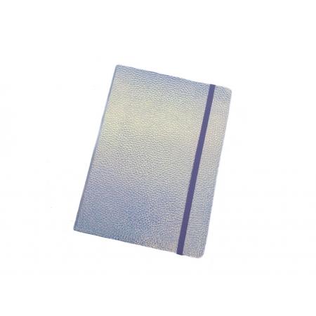 Caderno Branco Holográfico 96 Folhas Pautadas