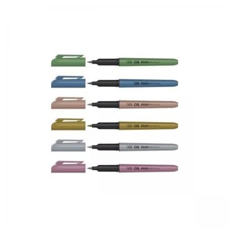 CIS Brush Pen Estojo com 6 - Metálico