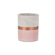 Porta Lápis Rosa e Cobre em Cimento - Pequeno
