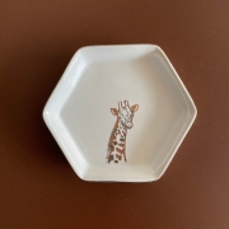 Prato Decorativo Animal Print Girafa