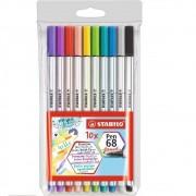 Stabilo 68 Brush Pen Estojo c/10
