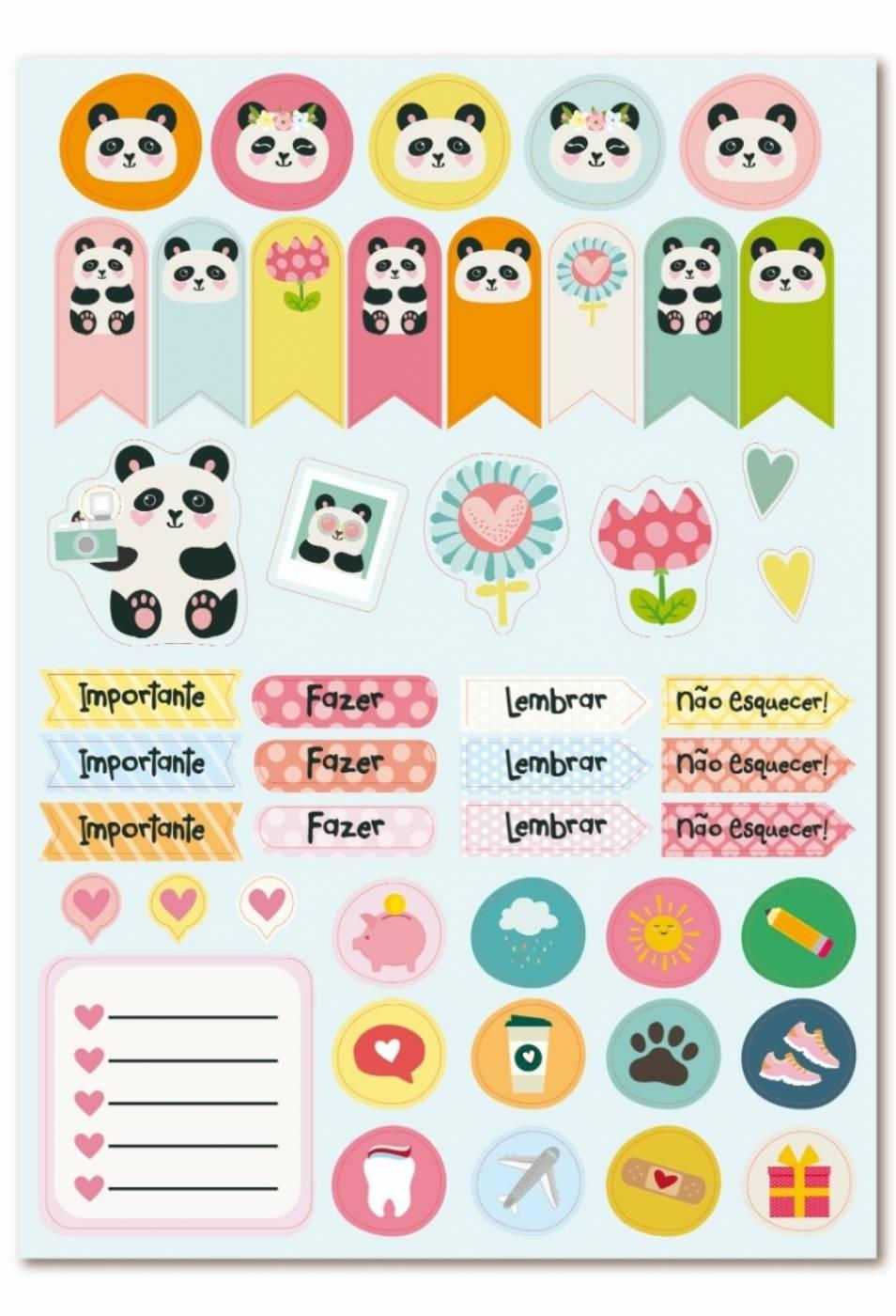 Adesivo em cartela Panda