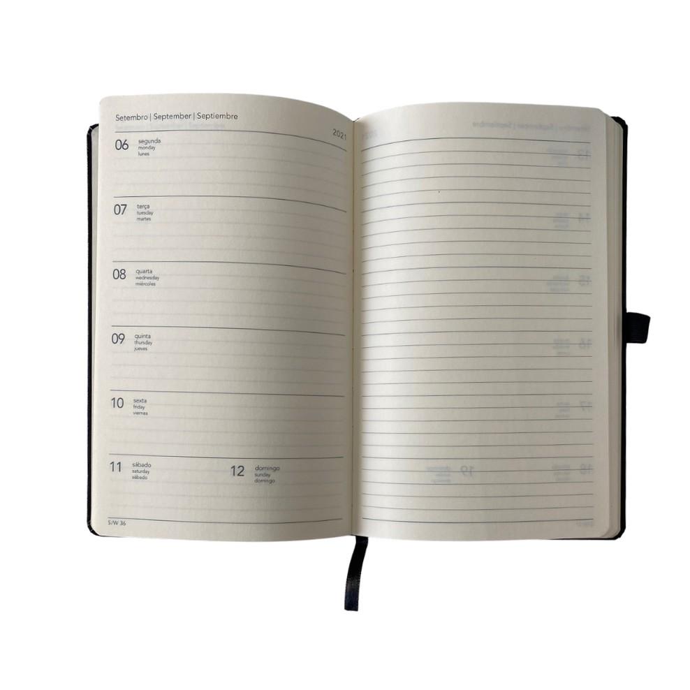 Agenda Noir Pena Papertalk Maxi 2021