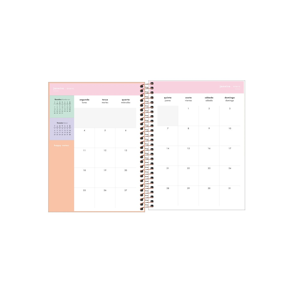 Agenda Planner Happy Amarela 2021