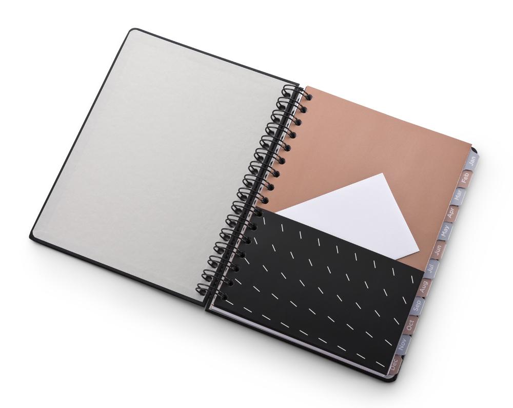 Agenda Planner Noir Pena A5