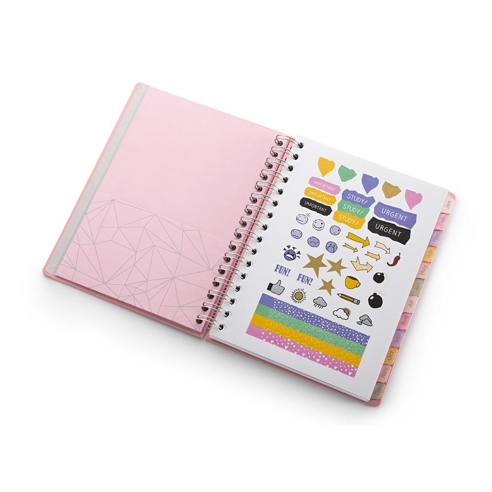 Agenda Planner Pink Stone Love A5