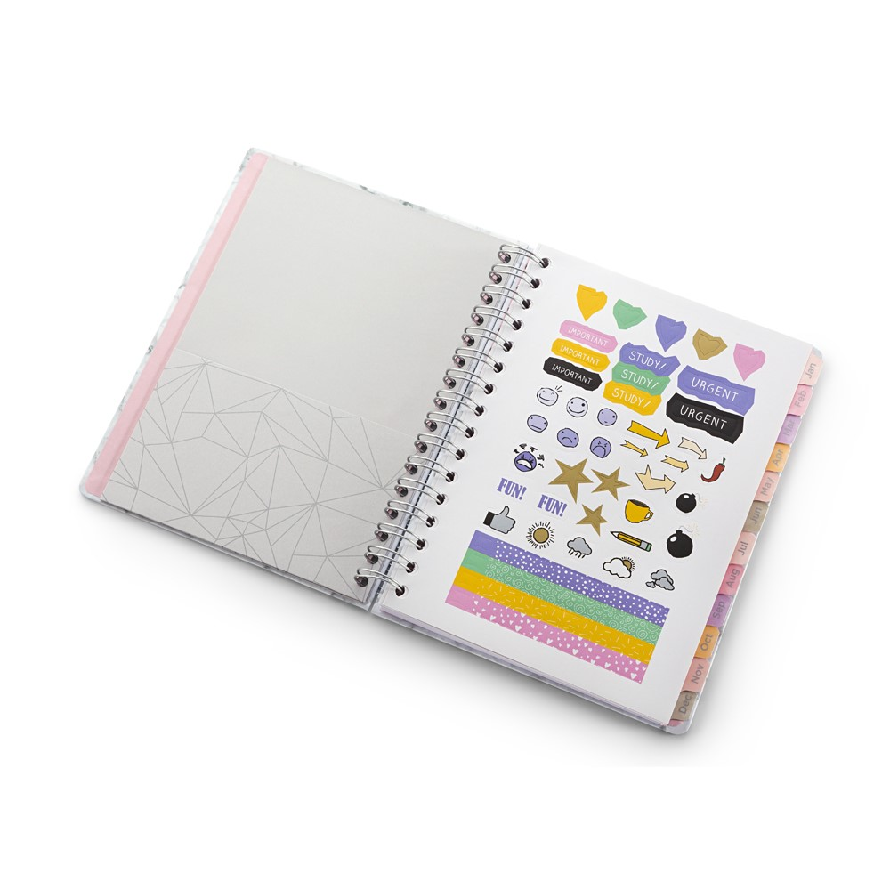 Agenda Planner Pink Stone Mármore A5