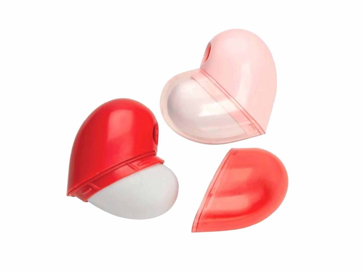 Apontador com Deposito e Borracha Love Heart - Vermelho