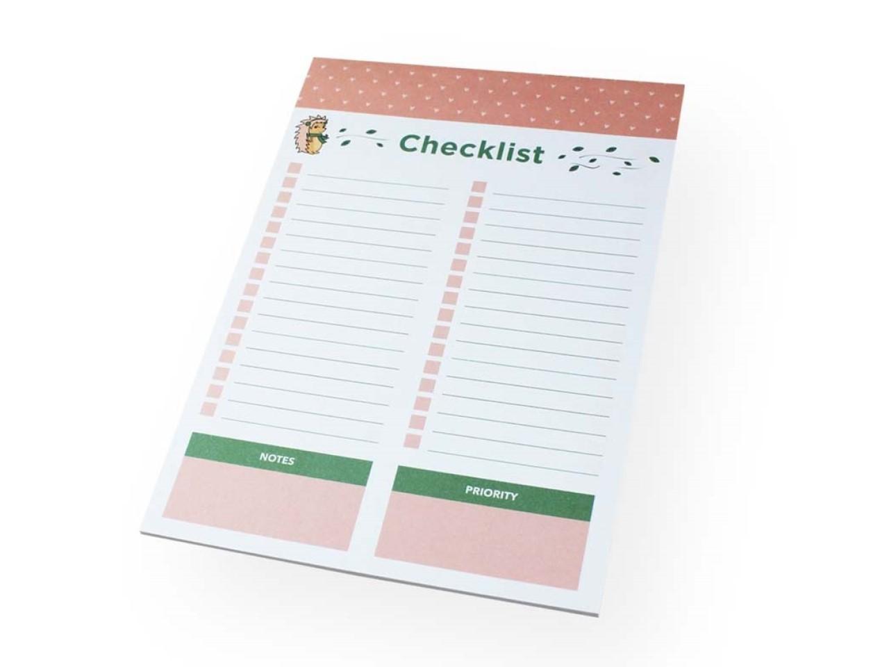Bloco A5 Check List Riccio