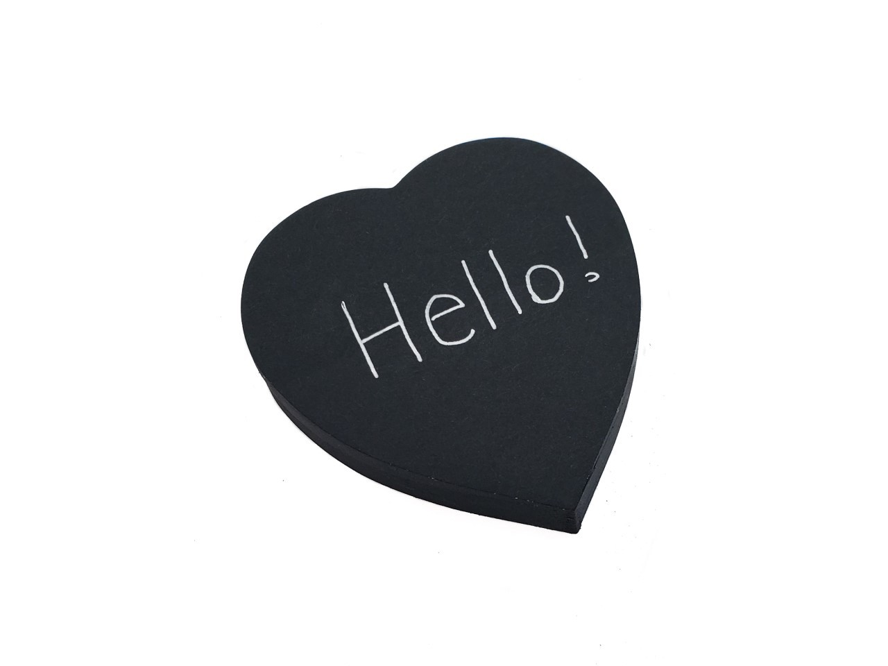 Bloco Adesivo Sticky Note Coração Preto