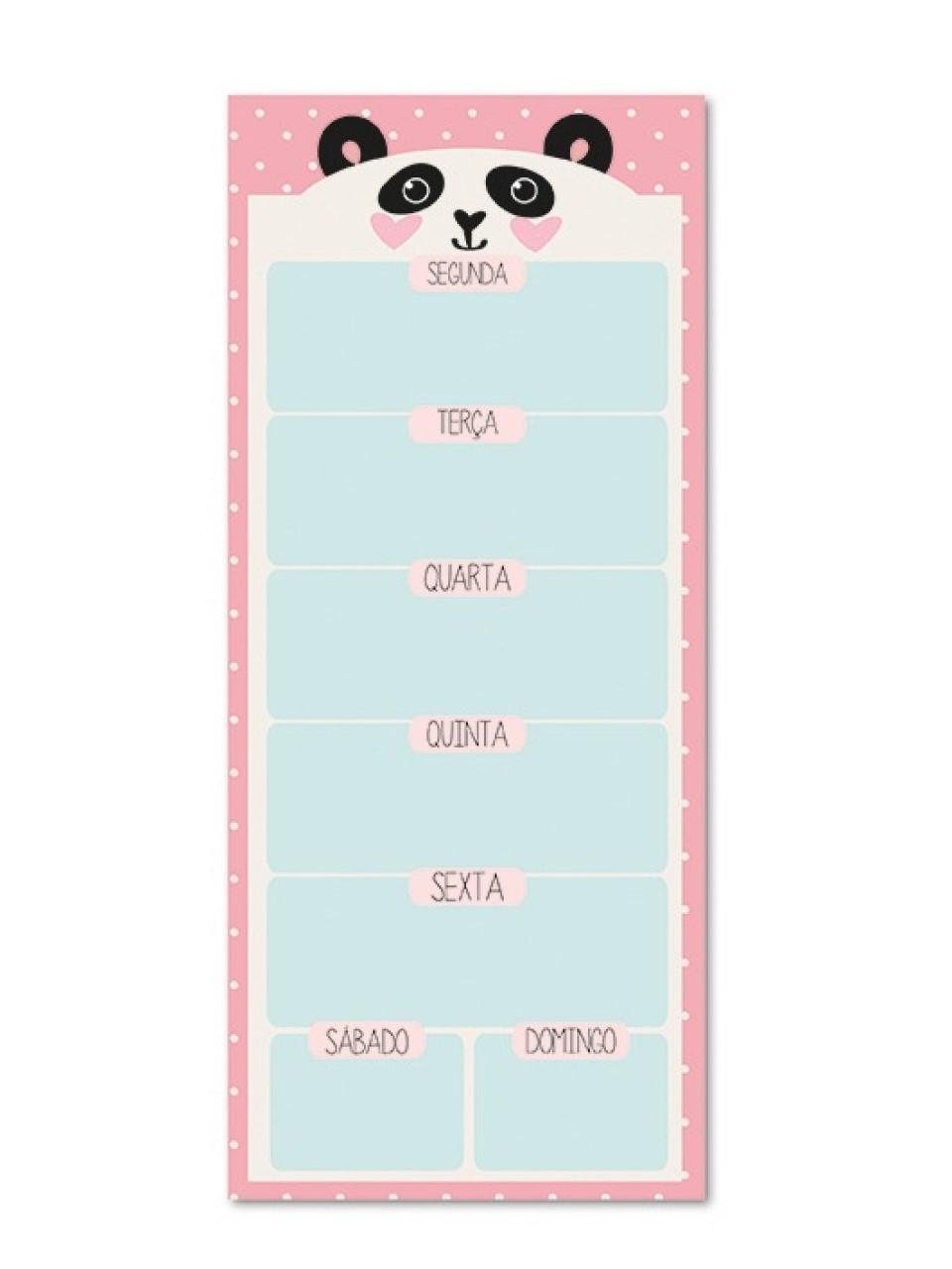 Bloco Planner Magnético Panda