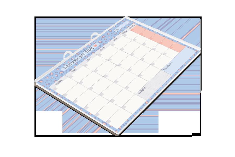 Bloco Planner Mensal Azul