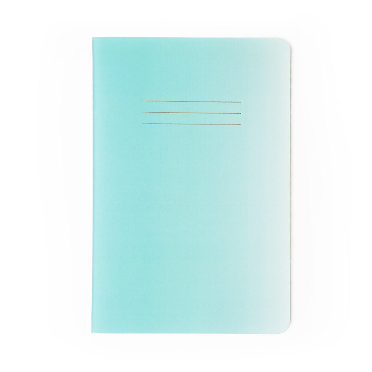 Caderneta Azul Pastel Degrade