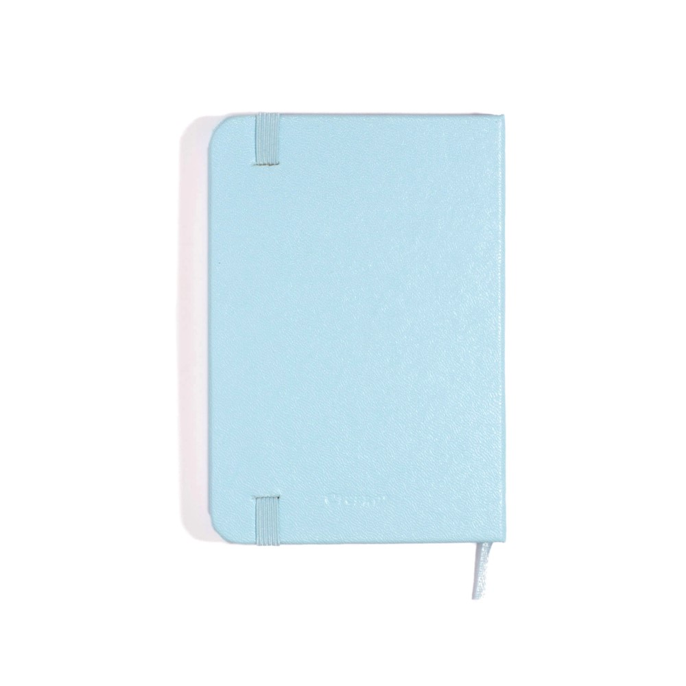 Caderneta Azul Pastel Sem pauta