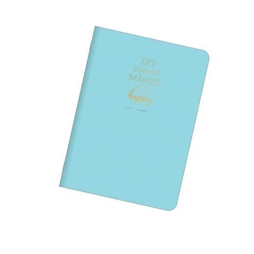 Caderneta Brochura Happy 32 Fls Azul