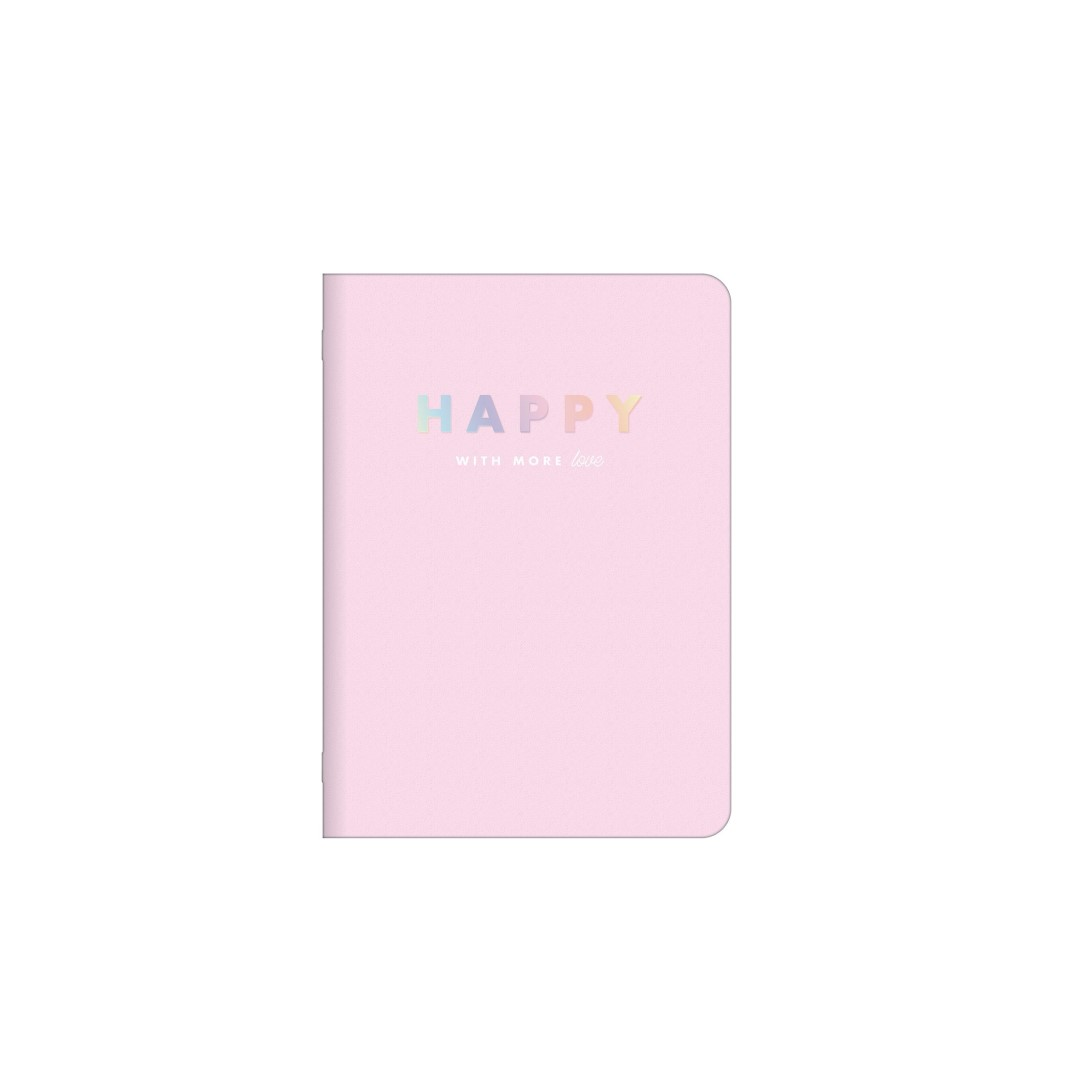Caderneta Brochura Happy 32 Fls Rosa