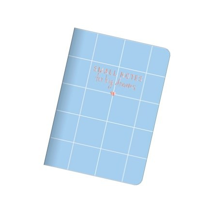 Caderneta Brochura Soho32 Fls Xadrez Azul
