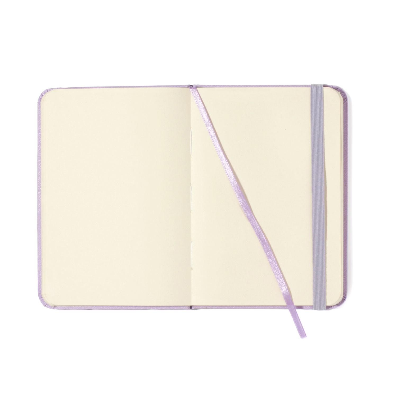 Caderneta Lilás Pastel Sem pauta