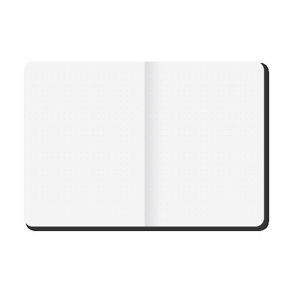 Caderneta Pontilhada Brochura Preta