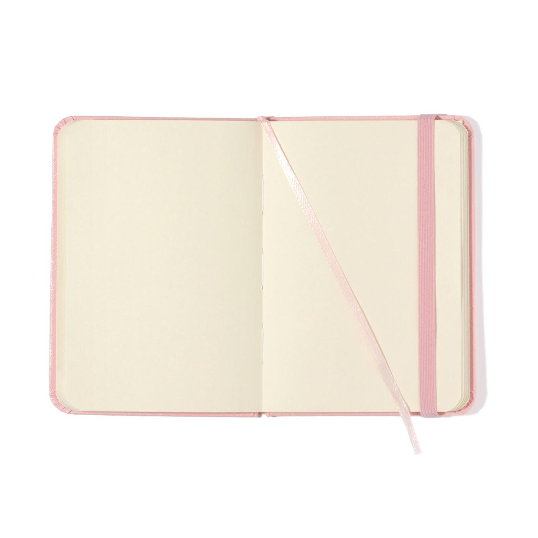 Caderneta Rosa Pastel Sem pauta