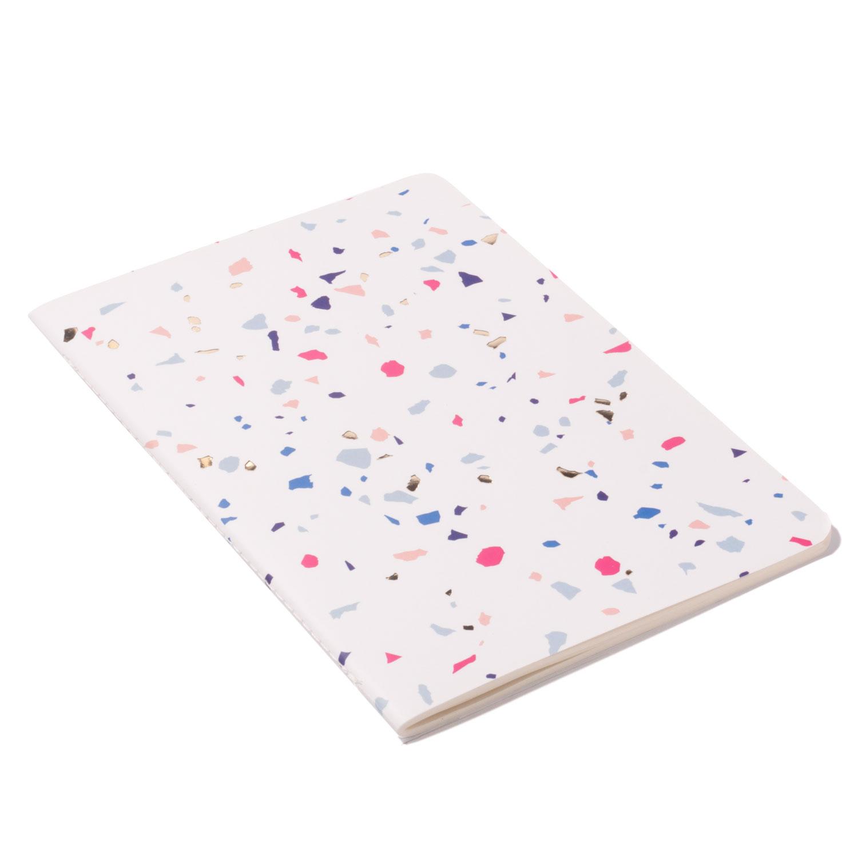 Caderneta Terrazzo Branca