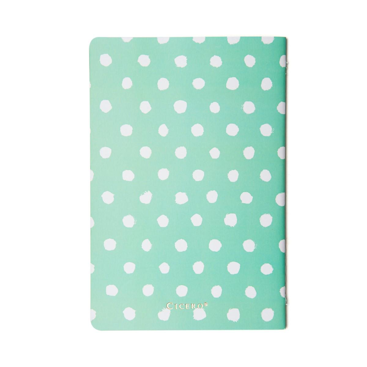 Caderneta Verde com Bolinhas Pastel