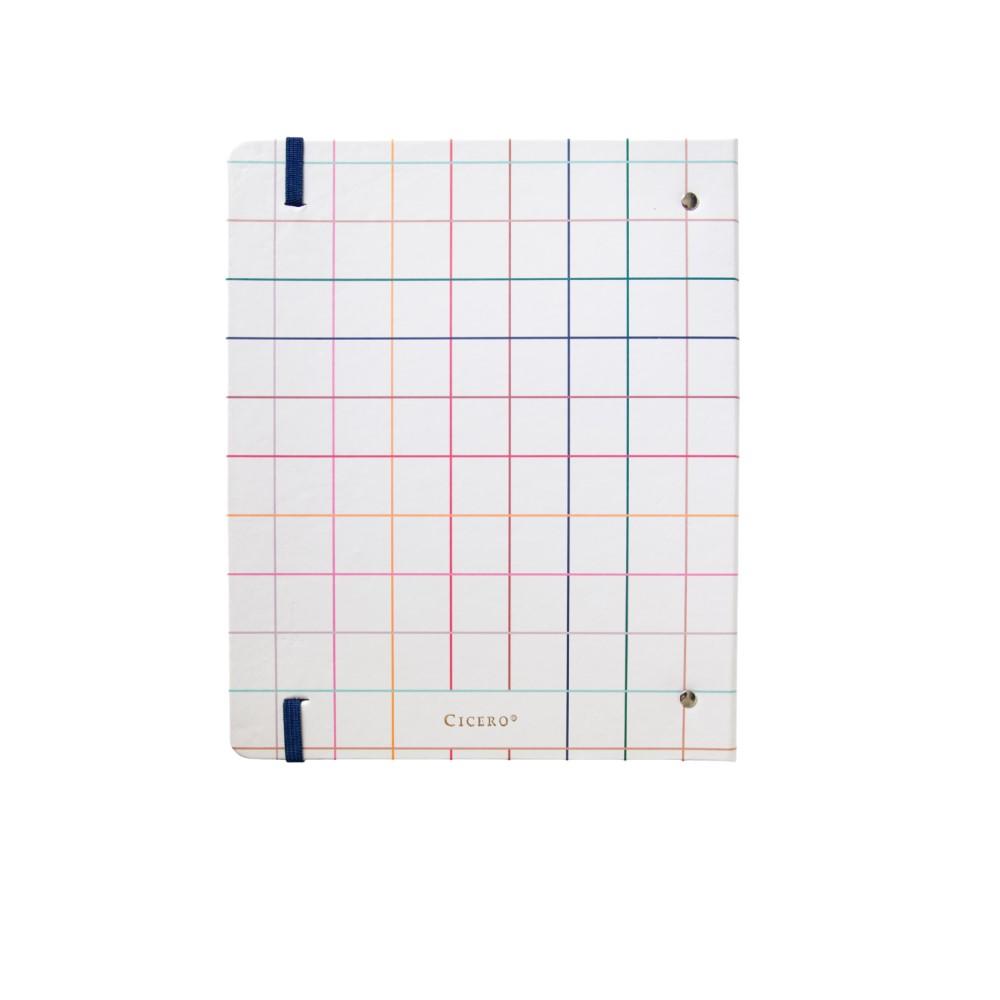 Caderno Argolado Esquema quadriculado