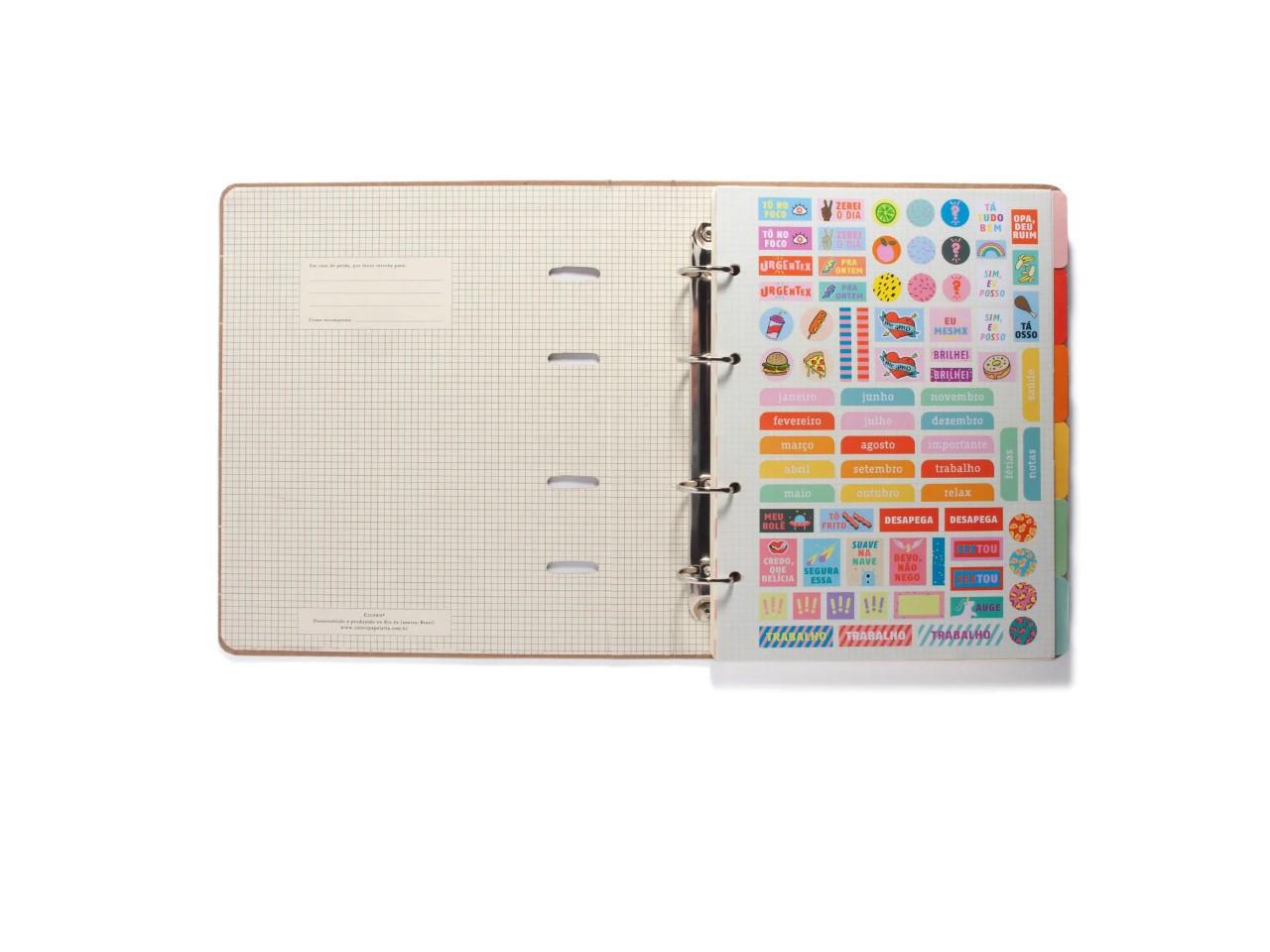 Caderno Argolado Kraft Pautado