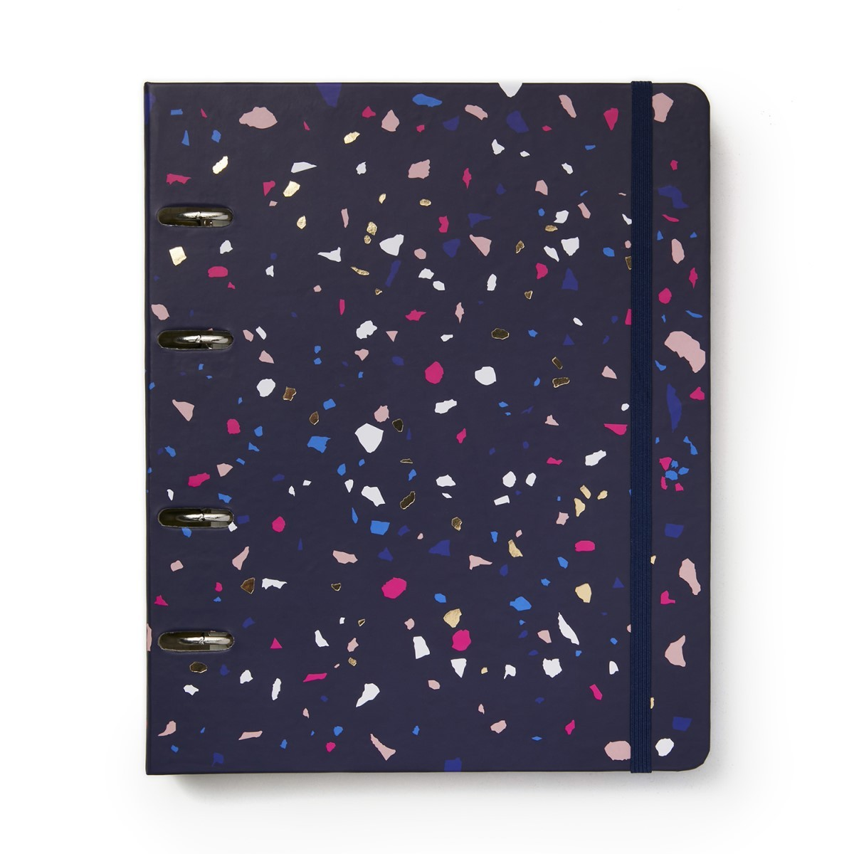 Caderno Argolado Terrazzo Marinho