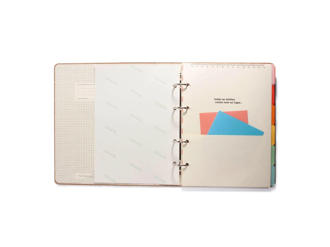 Caderno Argolado Todas Juntas Arco Iris