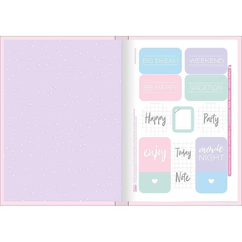 Caderno Brochura Happy 48 Fls Rosa